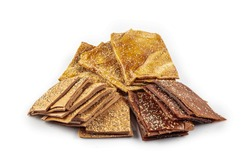 Turkish Pestil Dried Fruit Pulp with Sesame and Walnut