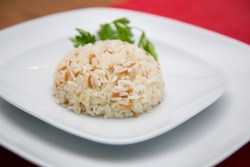 Turkish style rice and vermicelli.