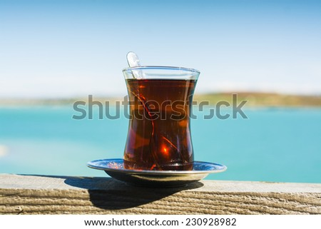Turkish Tea in glass