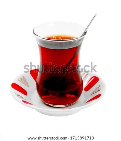 Turkish Tea isolated on white background Stok fotoğraf ©