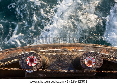 Turkish tea on the ship Stok fotoğraf ©