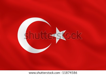Turkish waving flag