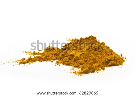 Turmeric on white background - stock photo