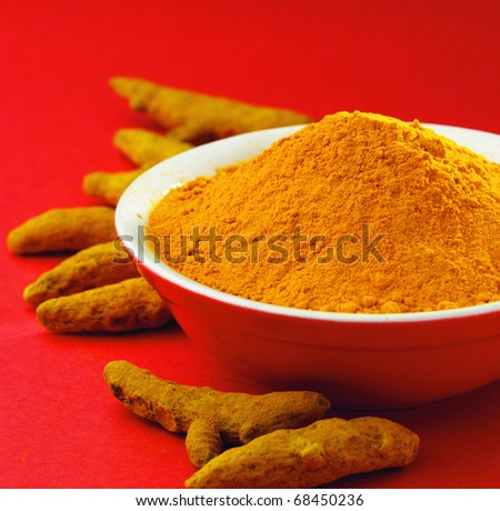 Turmeric powder and the turmeric sticks