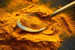 Turmeric powder. Fresh spice concept