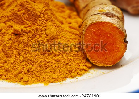 turmeric, root and powder