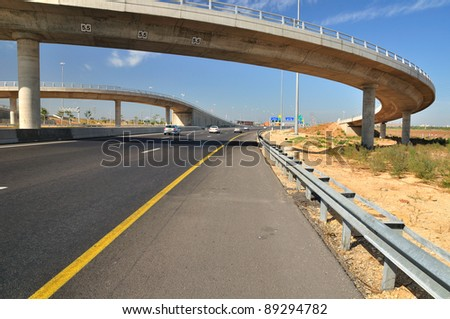 Turn Bridges over Israeli number one highway .
