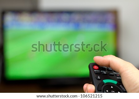 Turn off TV - stock photo