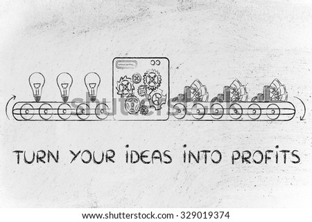 turn your ideas into profits: factory machine turning inventions into capital gain