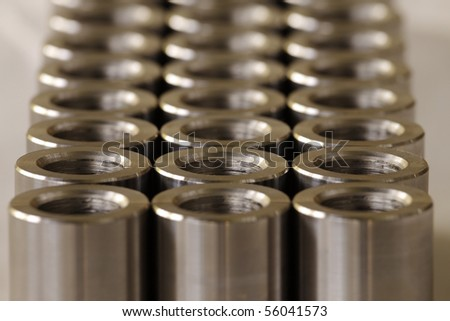 Turned metal cylinders