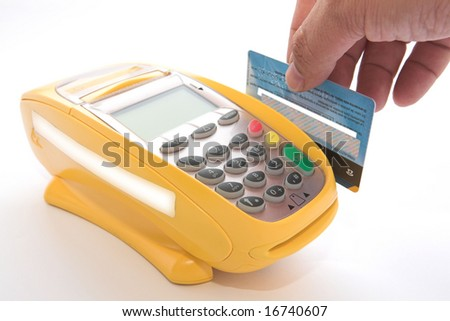 Turning credit cards through POS for sale
