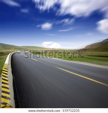Turning road