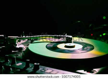 Turntable used by DJs for making electronic music and scratching.