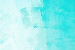 turquoise blue wall concrete texture background.