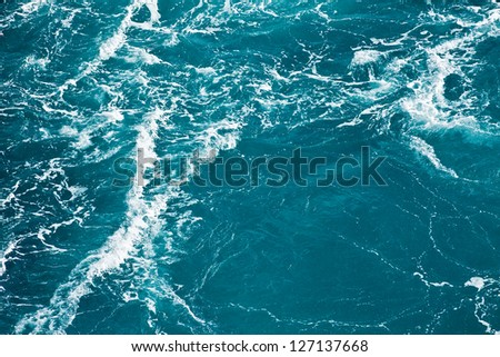 Turquoise Caribbean sea water as background