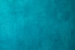 turquoise cement or concrete wall texture and background seamless