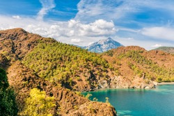 Turquoise Coast on Mediterranean Sea - Cirali, Antalya Province, Turkey, Asia