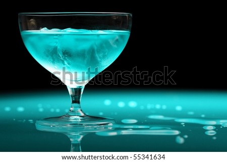 turquoise drink - stock photo