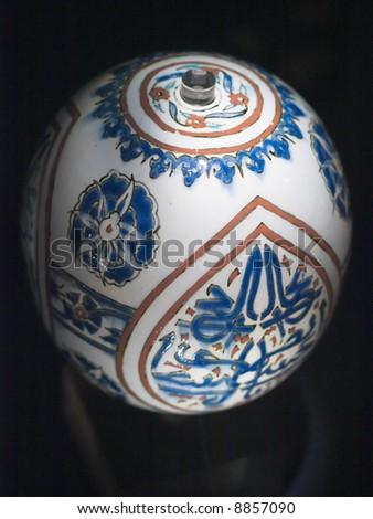 Turquoise glazed bottle