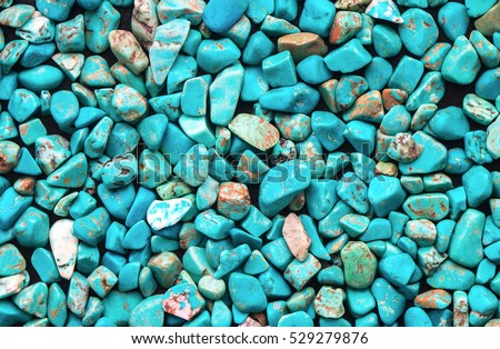 Turquoise mineral raw background, beautiful blue calaite  stone texture    - Shutterstock ID 529279876