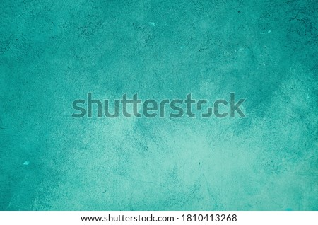 Turquoise painted wall background or texture  Stockfoto ©