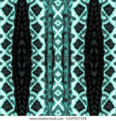 Turquoise seamless ethnic tiles. Ikat spanish tile pattern. Italian majolica. Mexican puebla talavera. Decorative monochrome tile pattern design.Tiled texture for kitchen,bathroom flooring ceramic.