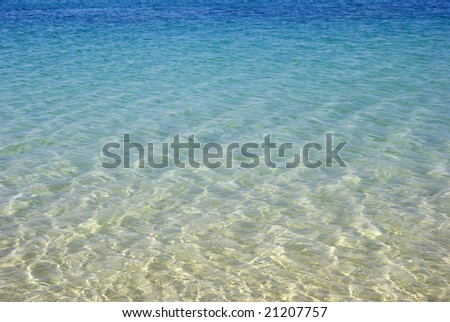 Turquoise seascape. Beauty in nature wallpaper.