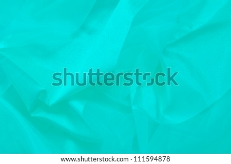Turquoise silk texture background