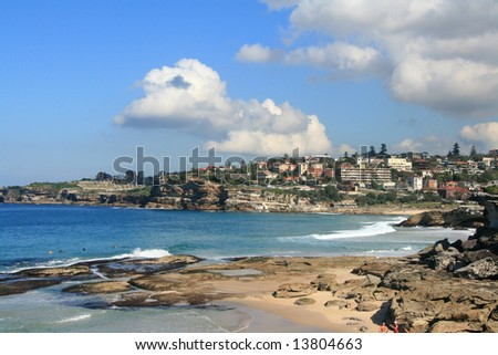 Turquoise water and golden beaches near Bondi, Sydney
