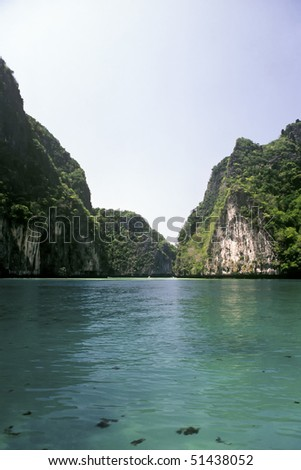 Turquoise Water near the island of Ko Phi Le, Thailand