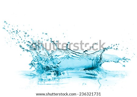 turquoise water splash, isolated on white - Shutterstock ID 236321731
