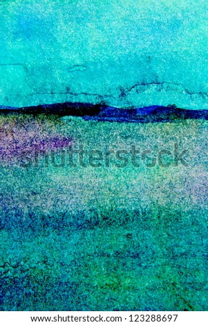 Turquoise Watercolor Background 4