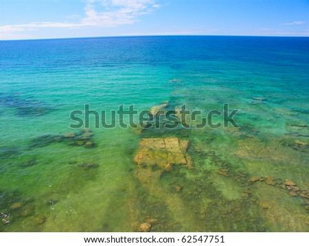 Turquoise waters of Lake Superior at Pictured Rocks National Lakeshore