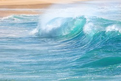 turquoise waves at Sandy Beach, Oahu, Hawaii USA