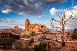 Turret Arch in the Arches National Park, Utah
