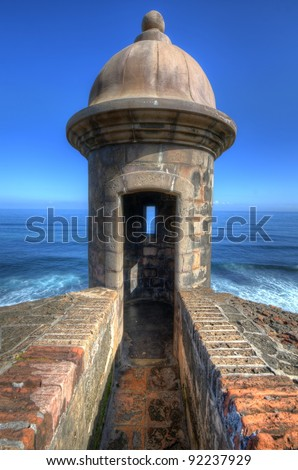 Turret at Castillo San Cristobal in Old San Juan, Puerto Rico.