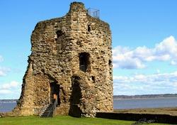 Turret of Flint Castle on the River Dee