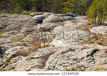 Turtle Rocks in  Petit Jean State Park,  Arkansas - stock photo
