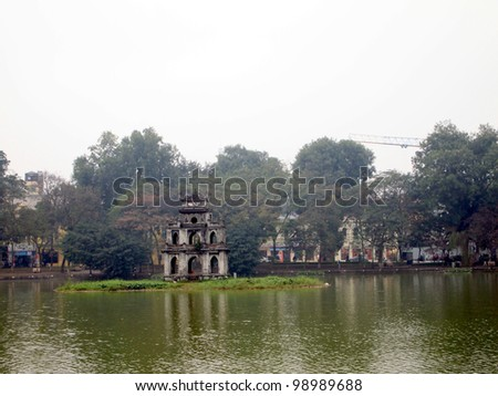 Turtle Tower, Th�¡p R�¹a - Hanoi, Vietnam