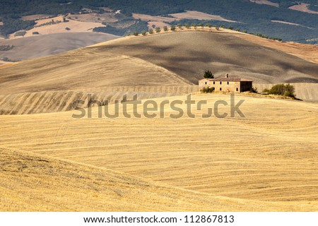 Tuscan countryside after sunrise, near Pienza, Tuscany, Italy