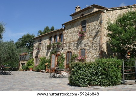 Tuscany, Italy, example of rural house farm