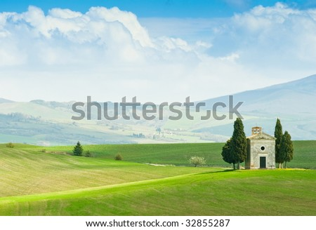 Tuscany landscape in spring