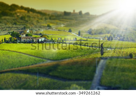 Tuscany landscape, Italy - stock photo