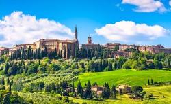 Tuscany, Pienza italian medieval village. Siena, Italy.