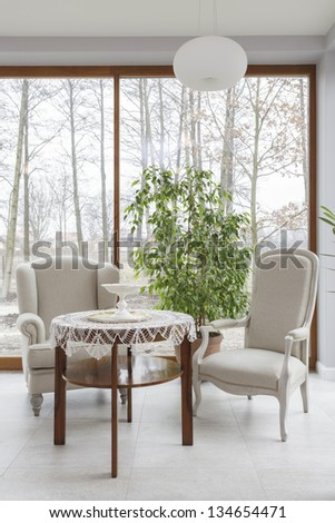 Tuscany - Vintage Table And Two Armchairs