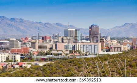 Tuscon Arizona skyline