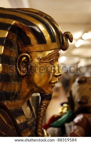 Tutankhamen in a prop house Stock photo ©