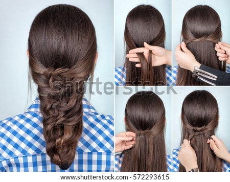 Free Photos Simple Twisted Hairstyle Tutorial Easy Hairstyle For