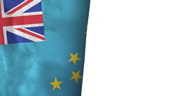 Tuvalu flag isolated on white with copyspace 3D rendering