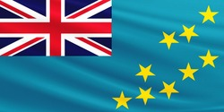 Tuvalu flag with fabric texture